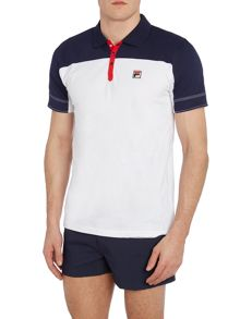 Fila Corsair regular fit contrast panel polo