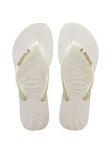Havaianas Havaianas slim metal logo and crystal flip flop