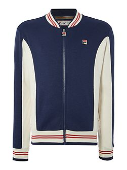 Settanta regular fit baseball collar track top