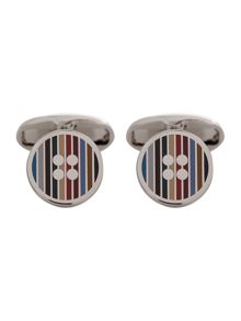 Paul Smith London Button multistripe cufflink