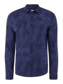 Only & Sons All Over Print Long Sleeve Shirt