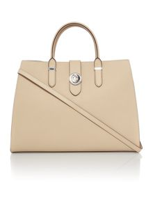 Lauren Ralph Lauren Charleston large neutral tote bag