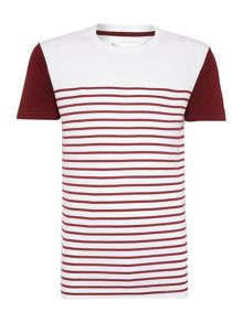 Only & Sons Neck Stripe Detail Short Sleeve T-shirt