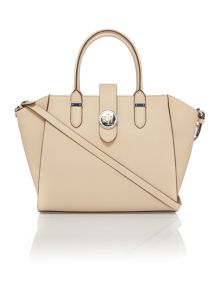 Lauren Ralph Lauren Charleston medium neutral tote bag