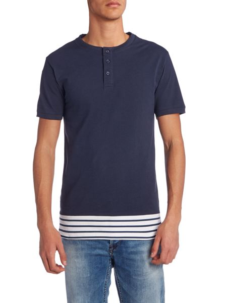 Only & Sons Pique Stripe Hem Short Sleeve T-shirt