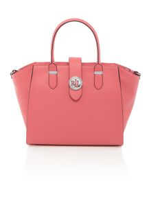 Lauren Ralph Lauren Charleston medium pink tote bag