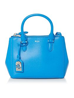 Newbury mini blue double zip tote bag