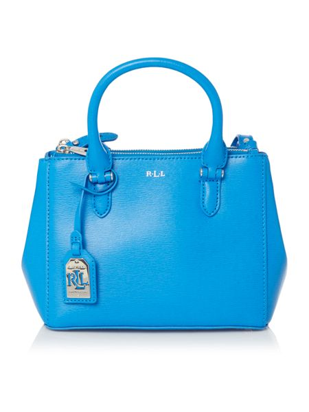Lauren Ralph Lauren Newbury mini blue double zip tote bag