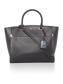 Lauren Ralph Lauren Sutton black perforated tote bag
