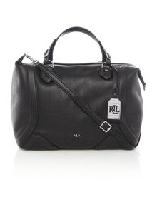 Lauren Ralph Lauren Birchfield black crosbody tote bag