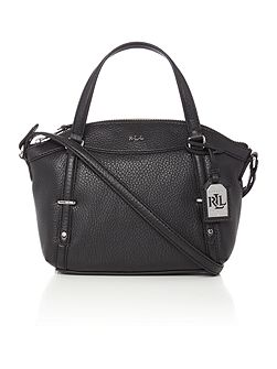 Grafton small black crossbody tote bag