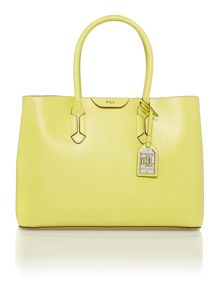 Lauren Ralph Lauren Tate yellow city tote bag