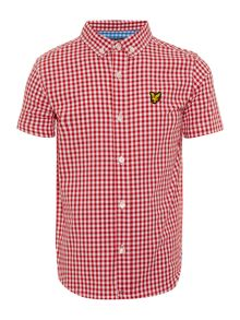 Lyle and Scott Boys Small Gingham Short Sleeve Shirt