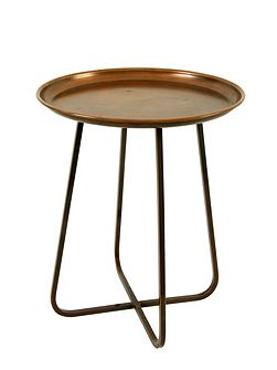 Living accessories copper side table