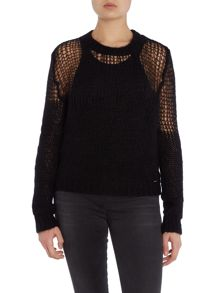 Diesel m-birds knitted jumper