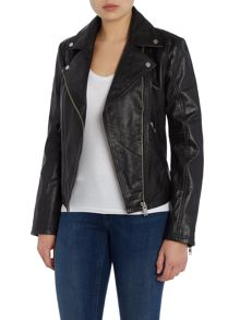 Diesel l-dada-b leather jacket
