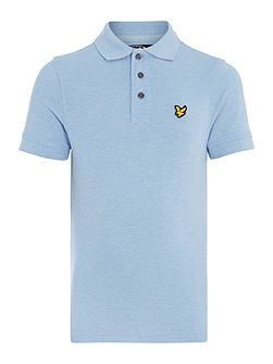 Boys Marl Small Logo Polo