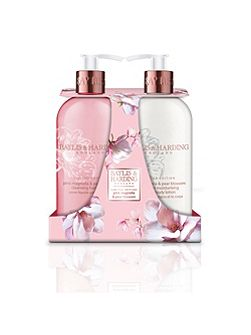 Pink Magnolia & Pear Blossom 2 Bottle Hand