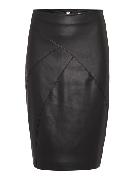 Linea Addison PU pencil skirt