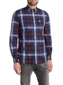 Fred Perry Large Check Long Sleeve Shirt