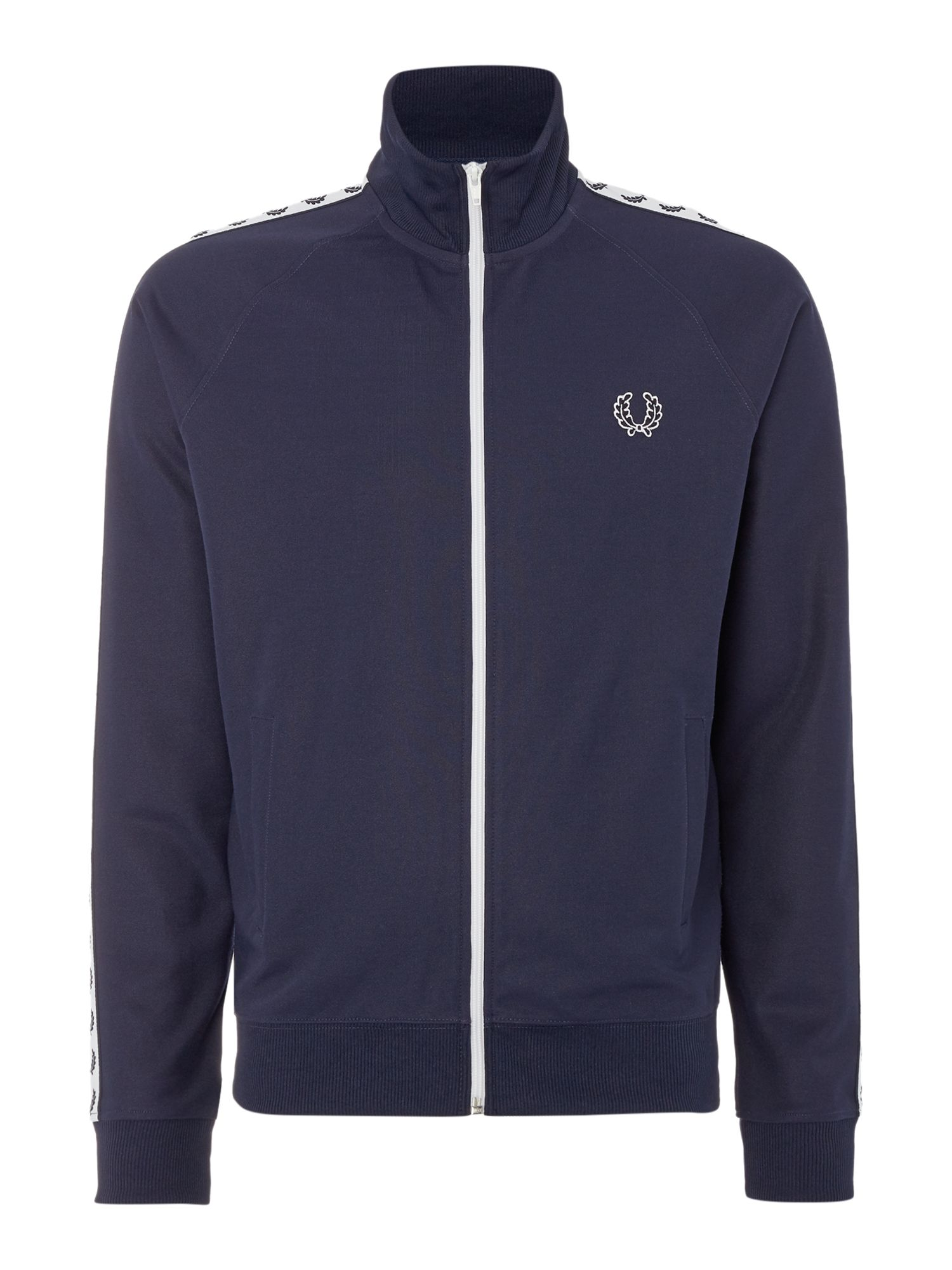 Mens Fred Perry Plain Funnel Neck Tracksuit Midnight Blue