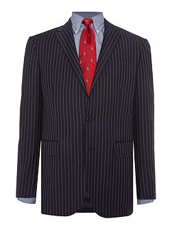 Slim Polo 1 Navy Stripe Suit