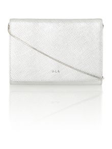 Lauren Ralph Lauren Darlington silver chain clutch bag