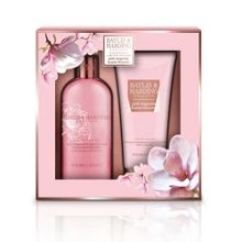 Baylis & Harding Pink Magnolia & Pear Blossom Two Piece Body Set