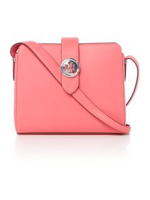 Lauren Ralph Lauren Charleston pink medium crossbody bag