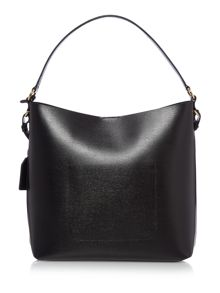 Lauren Ralph Lauren Newbury black pocket hobo bag