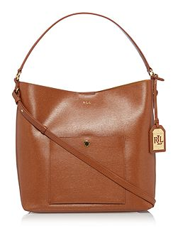 Newbury tan pocket hobo bag