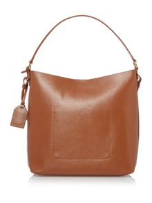 Lauren Ralph Lauren Newbury tan pocket hobo bag