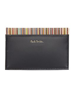 Coin pocket inter multistripe wallet