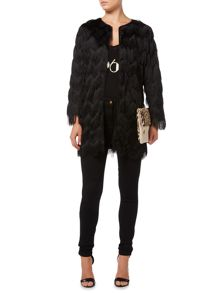 Biba Longline Tassel Long Sleeve Jacket