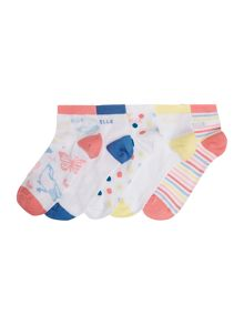 Elle 5 pack multi ankle socks