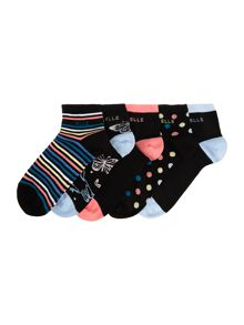 Elle 5 pack no show trainer socks