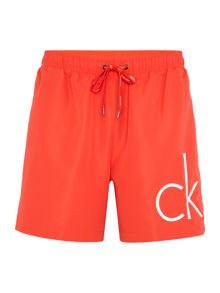 Calvin Klein Core solids swim shorts with large ck logo