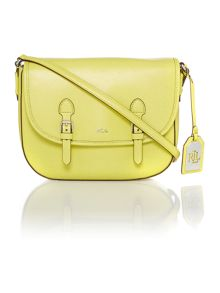 Lauren Ralph Lauren Tate yellow satchel bag