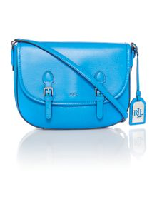 Lauren Ralph Lauren Tate blue satchel bag