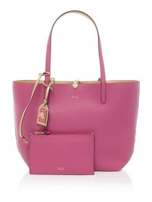 Lauren Ralph Lauren Milford gold/pink tote with pouch