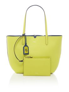 Lauren Ralph Lauren Milford blue/yellow tote with pouch