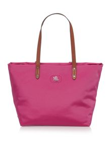 Lauren Ralph Lauren Bainbridge pink shoulder tote bag