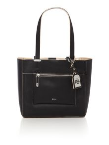 Lauren Ralph Lauren Paley Lorraine black tote bag