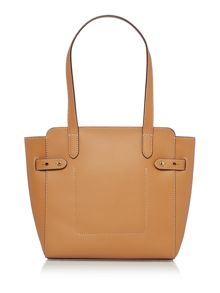 Lauren Ralph Lauren Harper tan medium tan tote bag