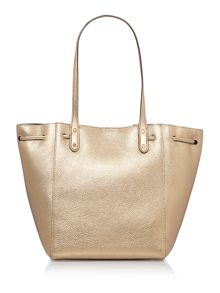Lauren Ralph Lauren Oxford gold bucket bag