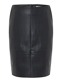 Skye PU pencil skirt