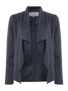 Gray & Willow Sina suedette waterfall jacket