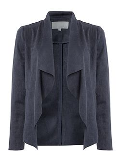 Sina suedette waterfall jacket