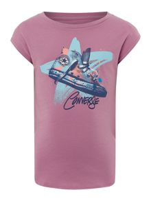 Girls Star Shoe Graphic T-shirt