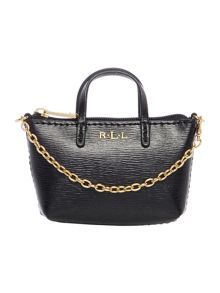 Lauren Ralph Lauren Newbury black mini bag charm